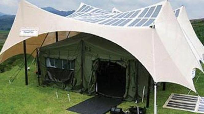 Tenda militer bertenaga matahari