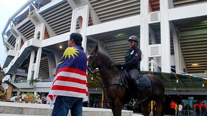 Pasukan berkuda di Stadion Bukit Jalil Malaysia