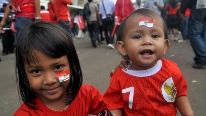 Suporter cilik Timnas Indonesia