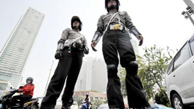 Polisi bersepatu roda