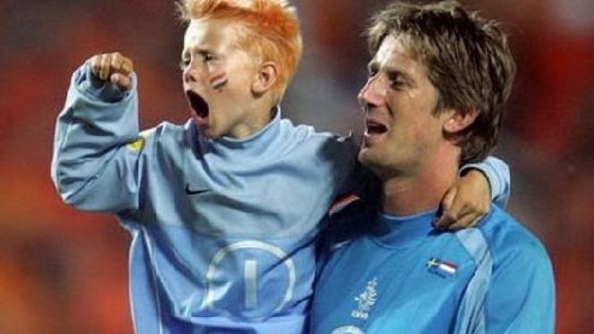 Edwin van der Sar & putranya, Joe