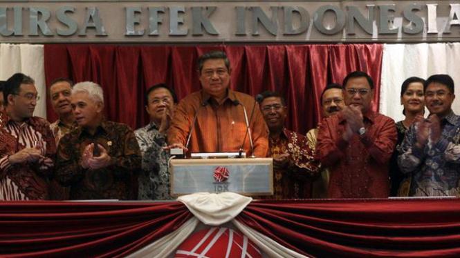 Presiden SBY Buka BEI