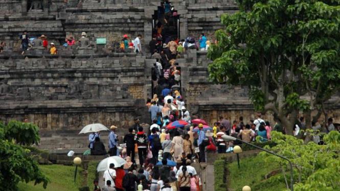 Liburan tahun baru di Borobudur