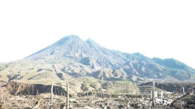 Kampung Kinahrejo, pasca letusan Merapi