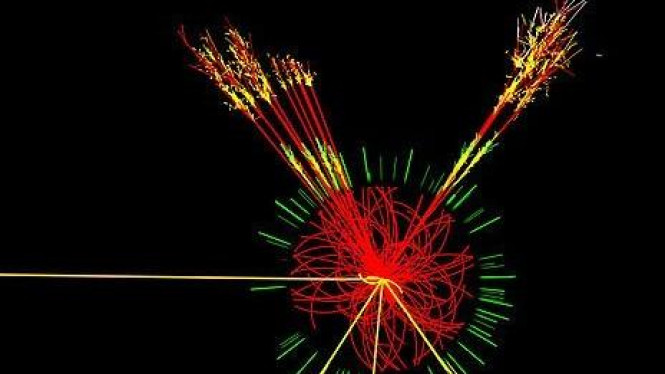 Data visual yang dihasilkan  Large Hardon Collider   (LHC)