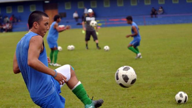 James Zaidan Saragih mengikuti seleksi timnas