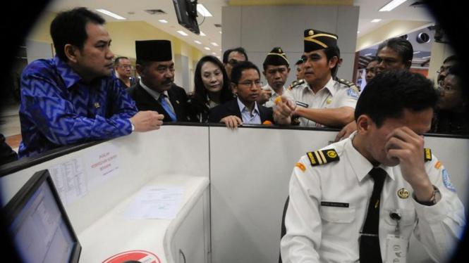 Bagian pelayanan imigrasi Bandara Soekarno-Hatta