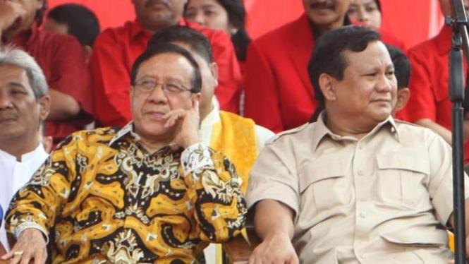Akbar Tandjung (Golkar) dan Prabowo Subianto (Gerindra)