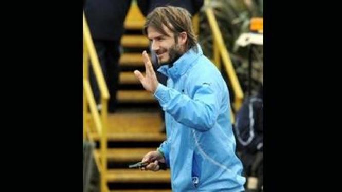 David Beckham saat berada di tempat latihan Spurs di Chigwell