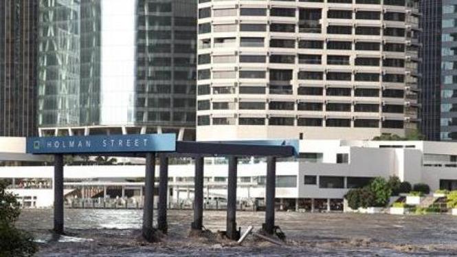 Banjir melanda kota Brisbane, Australia