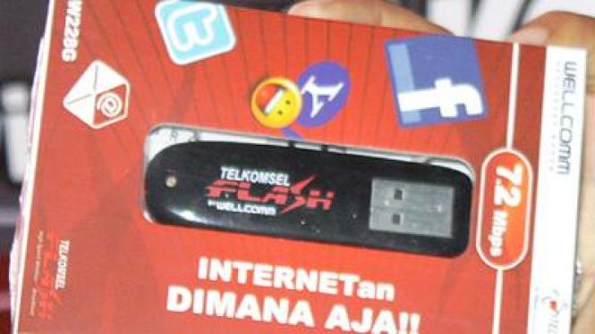 Wellcomm W288G, modem merk lokal 7,2Mbps pertama