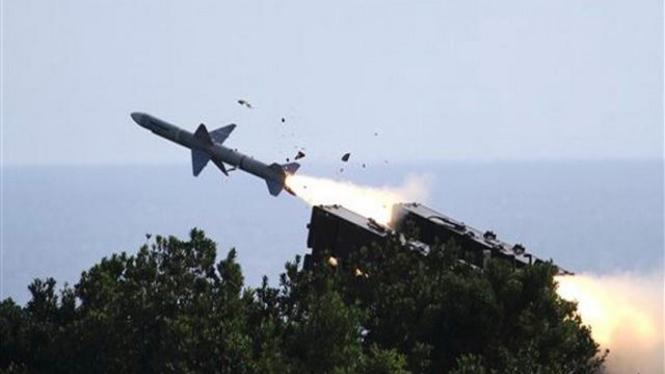 Ujicoba penembakan rudal oleh militer Taiwan