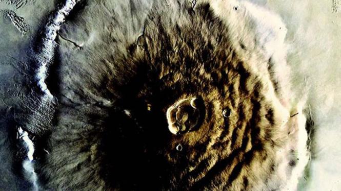 Gunung Olympus di Planet Mars
