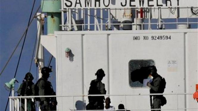 Pasukan khusus Korsel membekuk perompak Somalia di Laut Arab