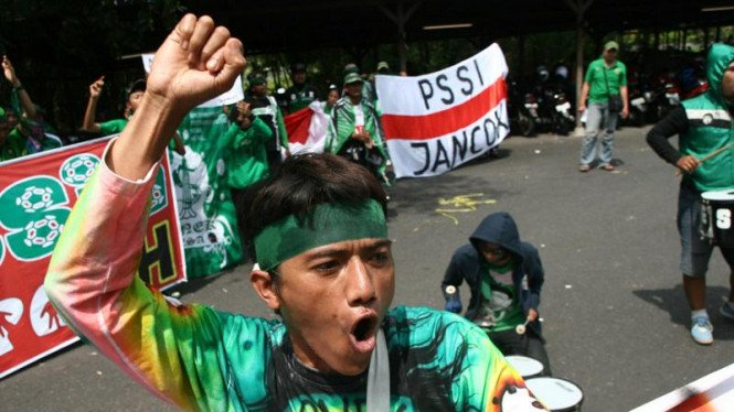 Demonstrasi saat kongres PSSI