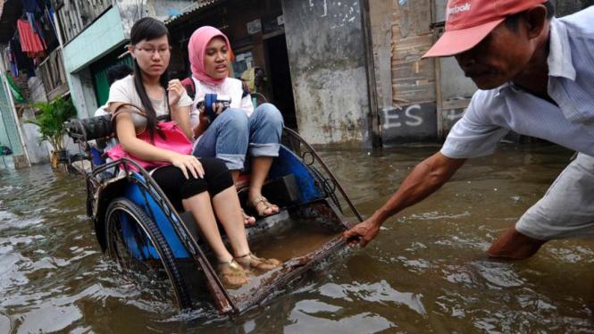 Banjir rob di Jakarta Utara