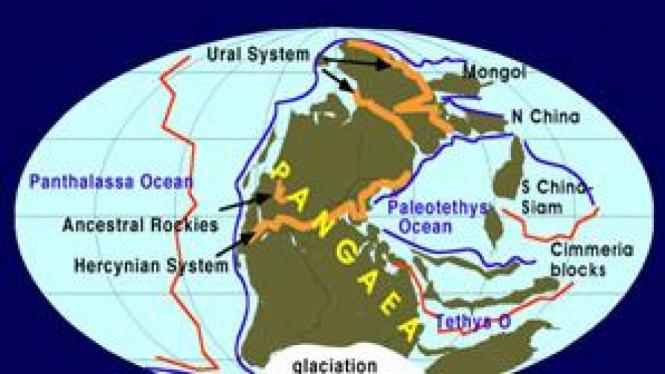 Formasi daratan Bumi di era Permia