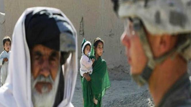 Anak-anak berlindung di ibukota Afganistan, Kabul