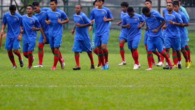 Latihan perdana timnas U-23