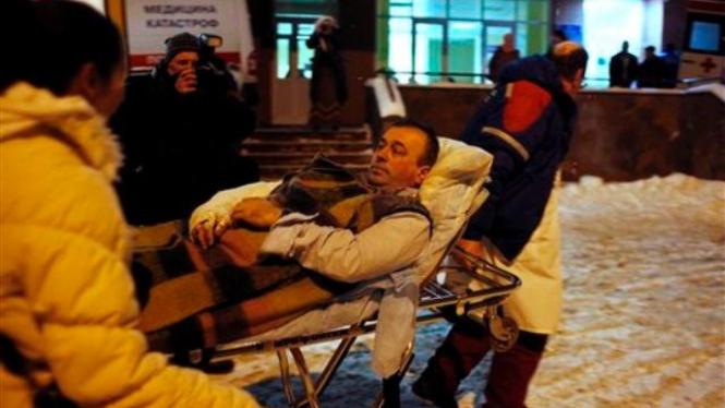 Korban ledakan bom di Bandara Moskow dilarikan ke rumah sakit
