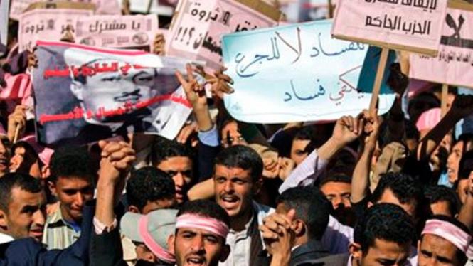 Demonstrasi di ibukota Yaman, Sanaa