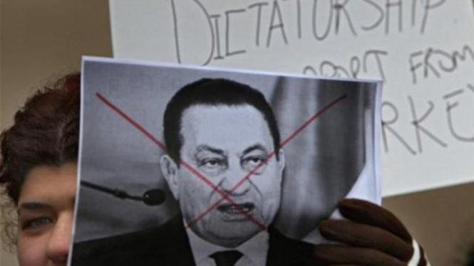 Demonstrasi anti Hosni Mubarak di Minneapolis, AS