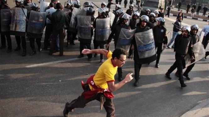 Ilustrasi polisi di Kairo, Mesir.
