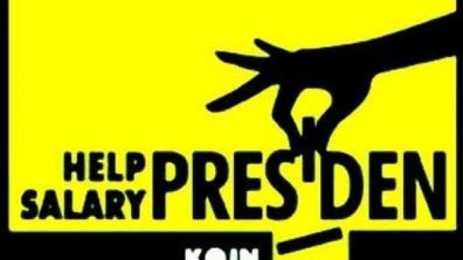 Poster Gerakan 'Koin untuk Presiden'