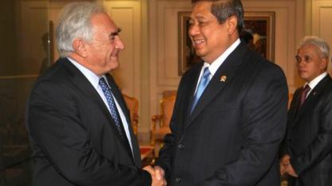 Presiden SBY dan Managing Director IMF Dominique Strauss-Kahn