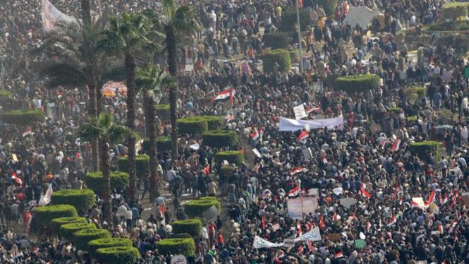 Massa pro pemerintah Mesir