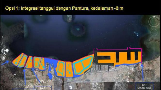 Maket lokasi dam raksasa Jakarta (1)