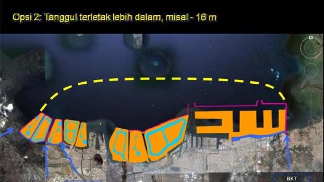 Maket lokasi dam raksasa Jakarta (2)