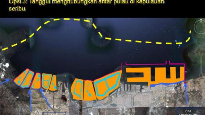 Maket lokasi dam raksasa Jakarta (3)