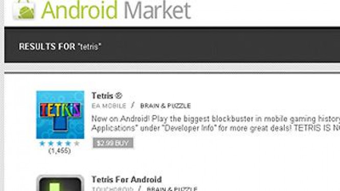 Website Android Market