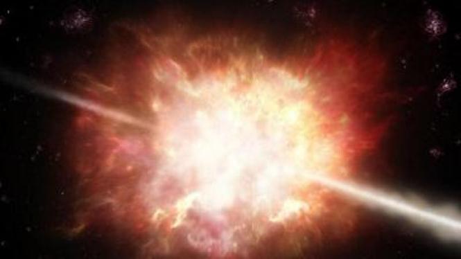 Ilustrasi big bang, dentuman besar yang mengawali kehidupan.