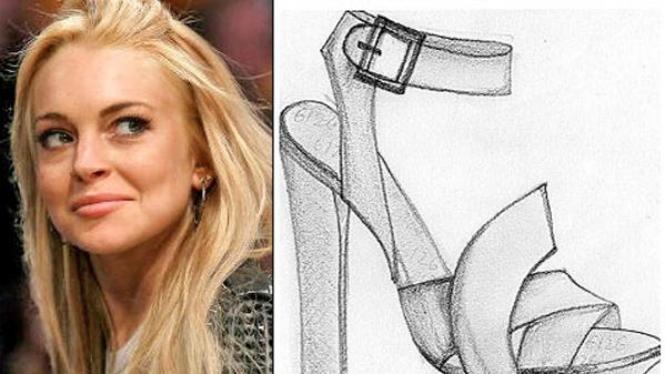 Sepatu rancanagan Lindsay Lohan