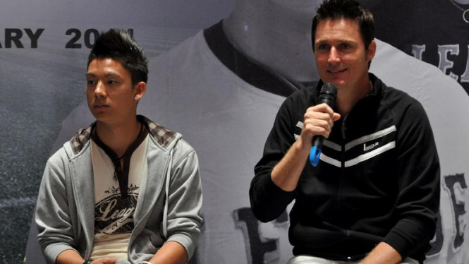 Kim Jeffrey Kurniawan dan Timo Scheunemann