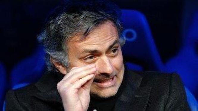 Jose Mourinho di pertandingan melawan Sevilla
