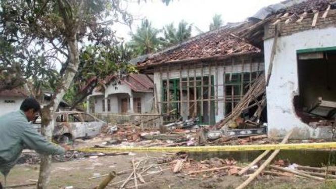 Rumah Suparman, anggota Jamaah Ahmadiyah yang diserang