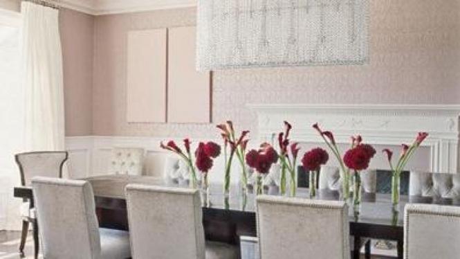 Ruang makan di rumah Jennifer Lopez