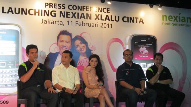 Peluncuran Nexian Xlalu Cinta di Jakarta