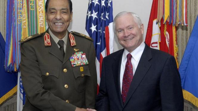 Menhan Mesir, Hussein Tantawi dan Menhan AS Robert M. Gates
