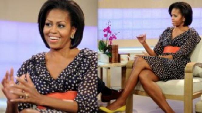 Michelle Obama dalam balutan gaun Rp300 ribu
