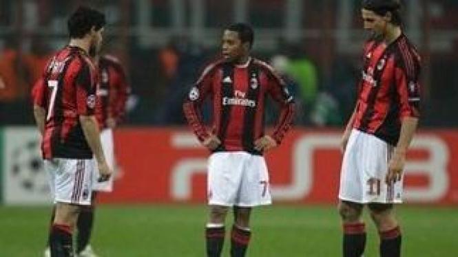 Pemain AC Milan saat melawan Tottenham Hotspur
