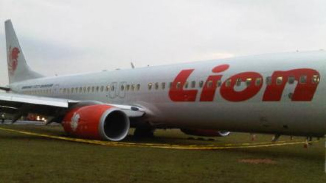 Lion Air tergelincir di Bandara Sultan Syarif Kasim II Pekanbaru
