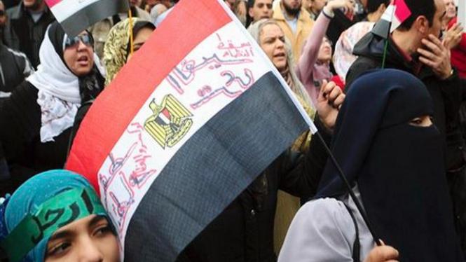 Demonstrasi anti rezim Hosni Mubarak di Alexandria, Mesir