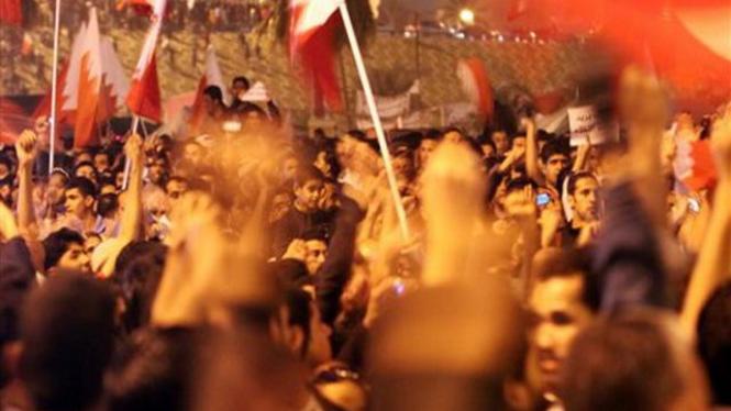 Demonstrasi rakyat Bahrain di Kota Manama
