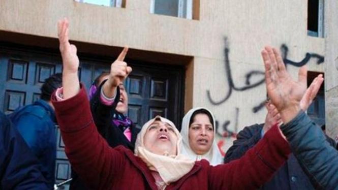 Demonstrasi di Kota Benghazi, Libya