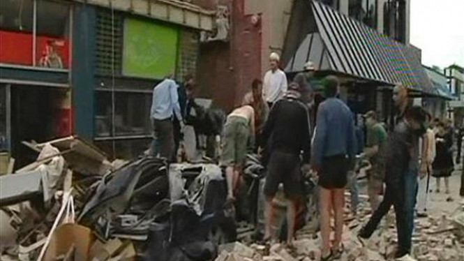 Kota Christchurch, Selandia Baru, usai gempa bumi 22 Februari 2011