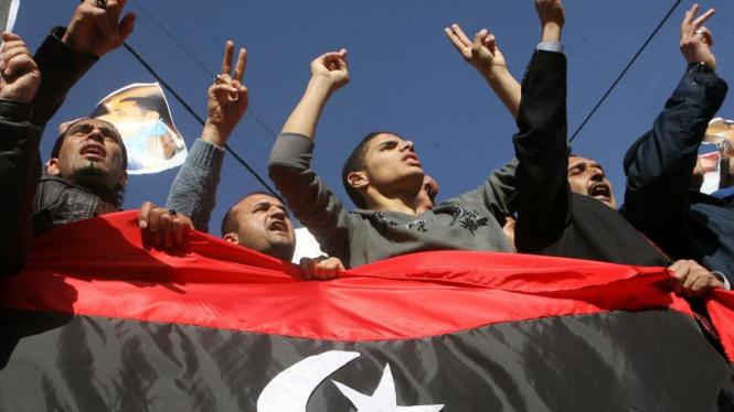 Aksi dukungan untuk Libya di Yordania